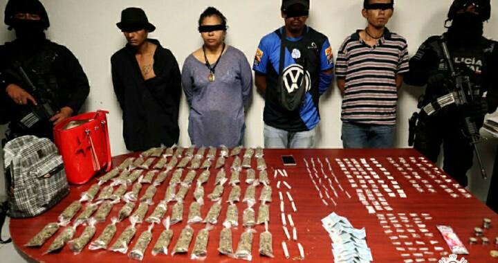 Detienen a banda dedicada al narcomenudeo en Puebla