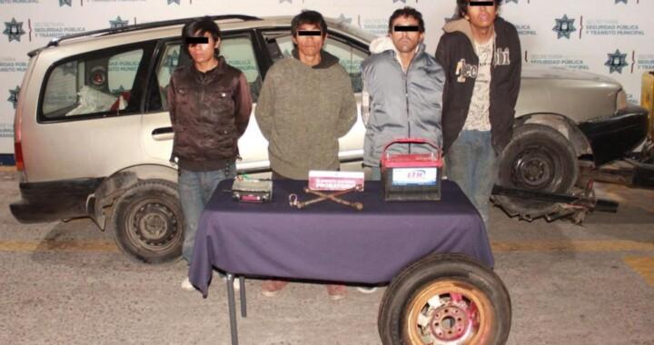 Desarticulan banda presuntamente dedicada al robo de autopartes en Puebla