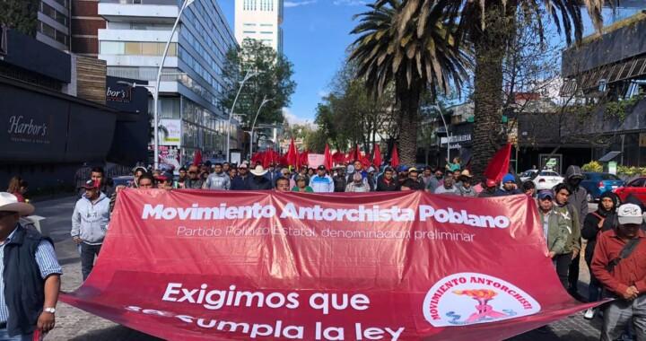 Protesta de Antorcha Campesina con menos de 20 mil participantes