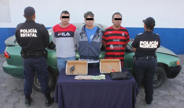 SSP y SSC capturan a tres probables asaltantes de cuentahabiente