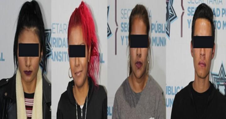 Capturan a 3 mujeres y un hombre por robar a usuario de transporte público