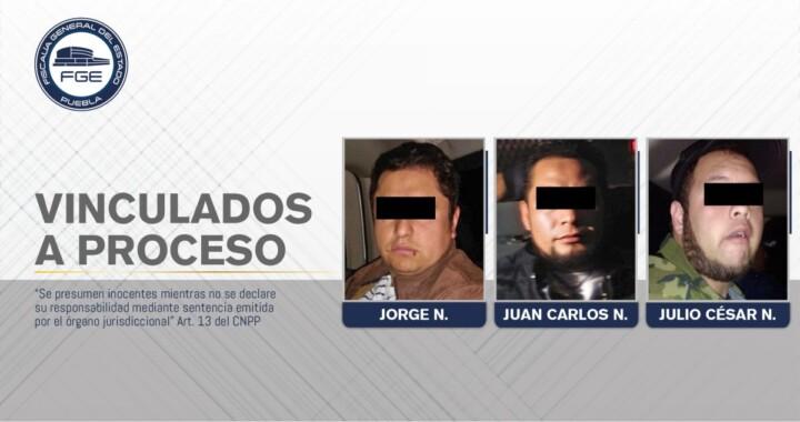 Detienen a otros tres en Chignahuapan, permanecerán en prisión preventiva