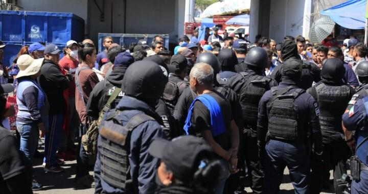 SSP decomisa aparente droga en el mercado Morelos