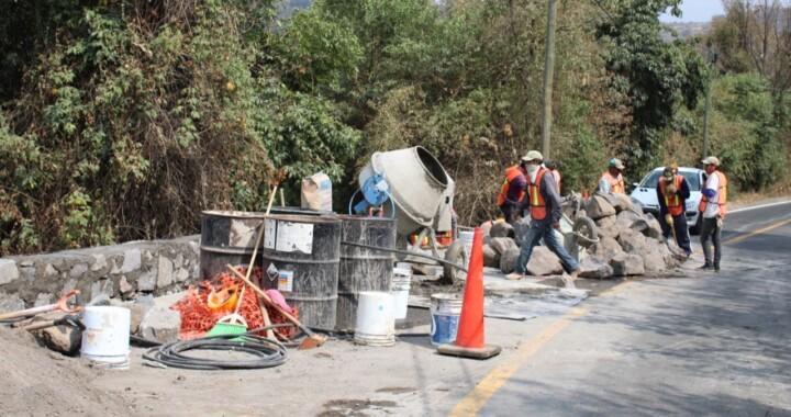 Avanza Infraestructura con la rehabilitación de rutas de evacuación en el Popocatépetl