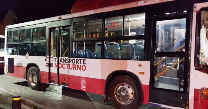 Suspenden temporalmente el servicio de transporte público nocturno