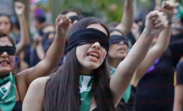 Detalles de la marcha feminista