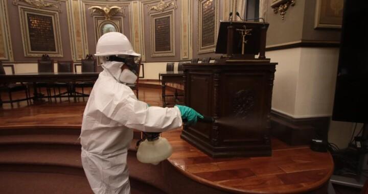 Realiza LX Legislatura sanitización de sus instalaciones ante COVID -19