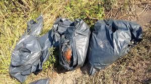 Encuentran bolsas negras con restos humanos en Parque Ecológico