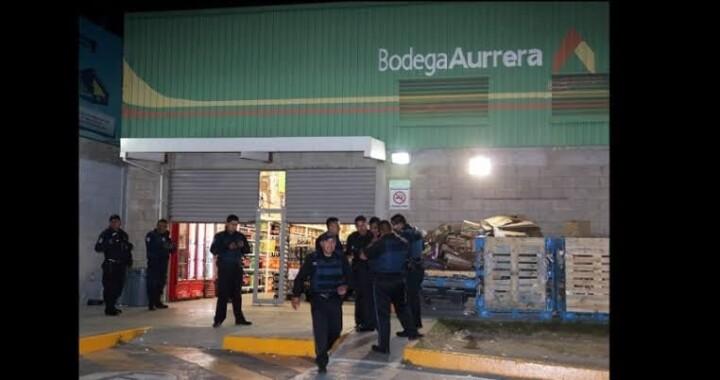 Saquean Bodega Aurrerá de la junta auxiliar Romero Vargas