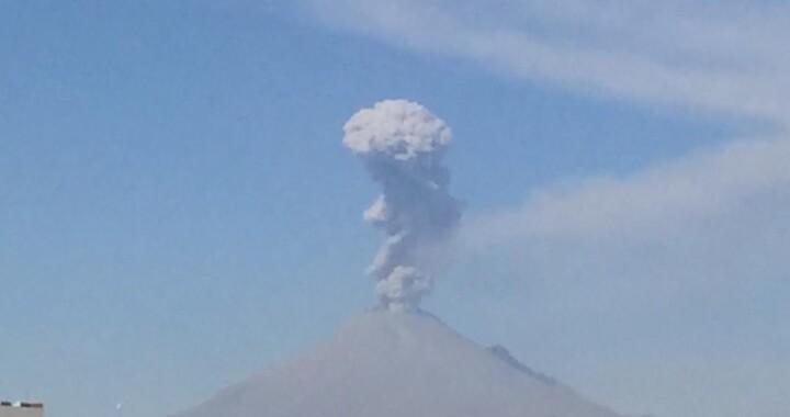 Reportan alerta volcánica de Popocátepetl