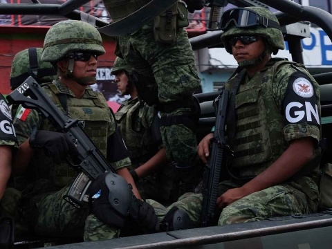 Reciben a la Guardia Nacional a balazos en Chiautzingo