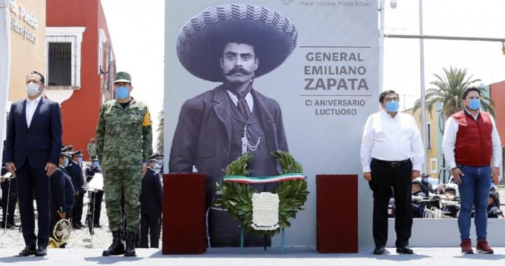 Preside el gobernador ceremonia conmemorativa al 101 aniversario de Emiliano Zapata