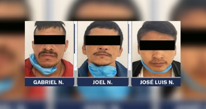 Captura FGE a tres presuntos secuestradores y salva a ciudadano
