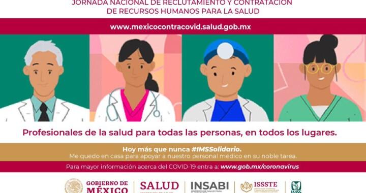 Presenta Secretaría de Salud Jornada Nacional de Reclutamiento por COVID-19