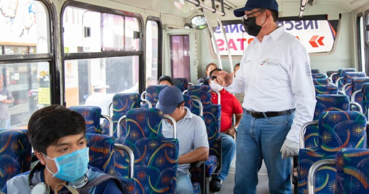 Supervisa Movilidad y Transporte sanitización de unidades