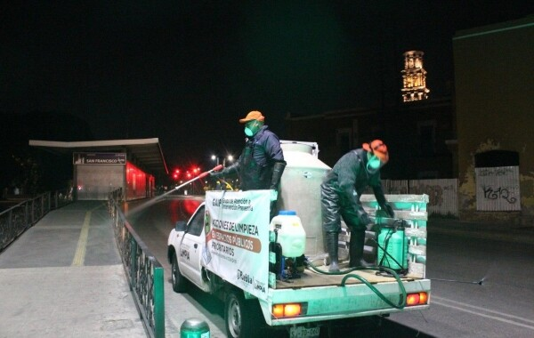 Continúan acciones de limpieza en la capital poblana
