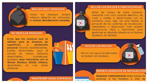 Emiten recomendaciones para disposición de residuos durante contingencia