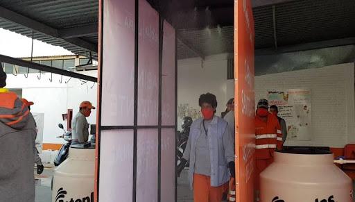 Organismo de Limpia instala cabinas sanitizantes para su personal operativo