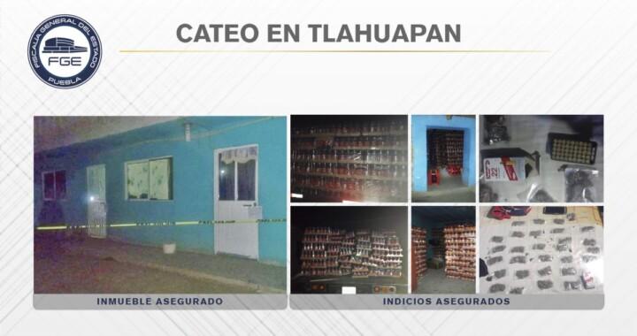 Fiscalía aseguró mercancía robada, cartuchos y droga en Tlahuapan