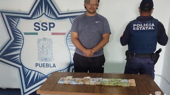 Asegura SSP a un hombre con 452 mil pesos en efectivo
