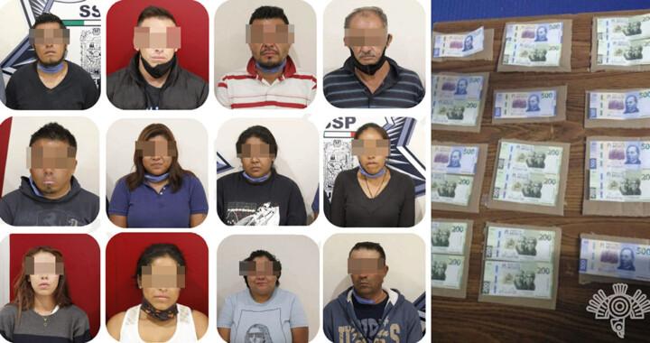 Cae banda de falsificadores de billetes en la capital poblana