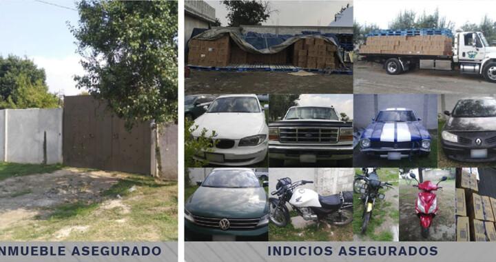 Fiscalía recupera 1,500 cajas de productos robados y vehículos en Chiautzingo