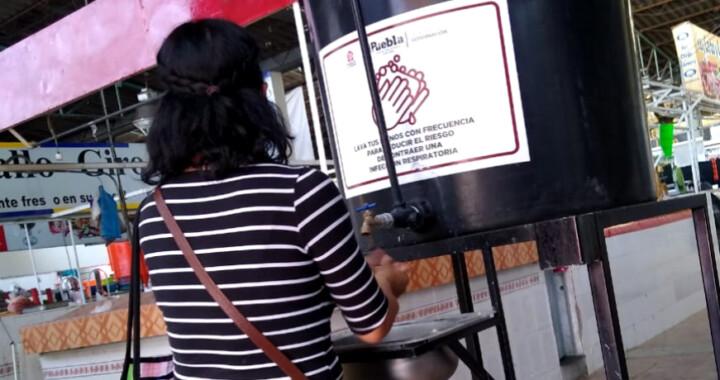 Instalan 42 lavamanos en mercados del municipio