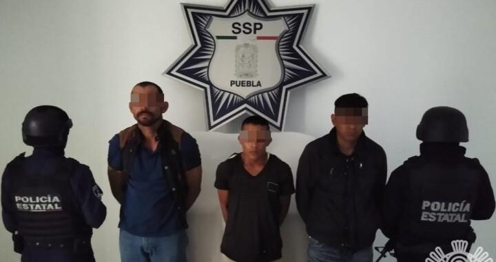 Policía Estatal asegura a presuntos integrantes de banda dedicada al robo de transporte