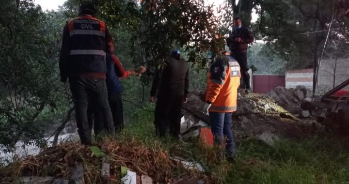 Atienden afectaciones por lluvias en Amozoc y Chietla