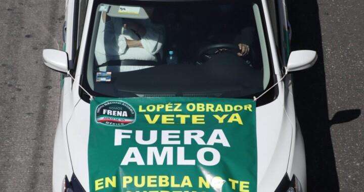 Ciudadanos de Puebla realizan quinta caravana anti AMLO