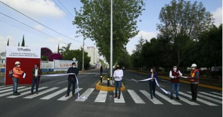 Rehabilitan Avenida Carmen Millán, en San Felipe Hueyotlipan