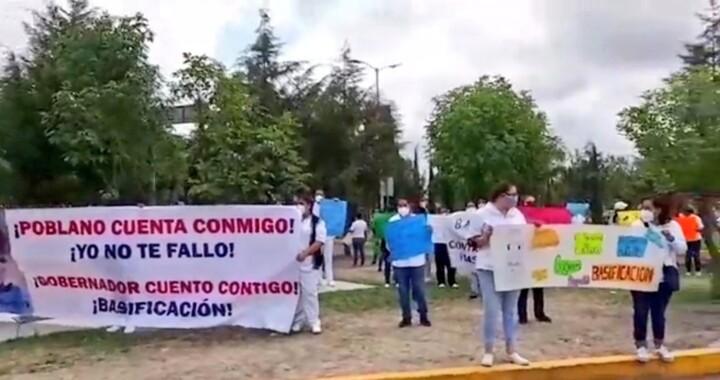 Personal del Hospital General de Cholula alza la voz: piden bases laborales