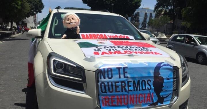 Se apodera FRENA de las calles de la ciudad; exigen la renuncia de AMLO