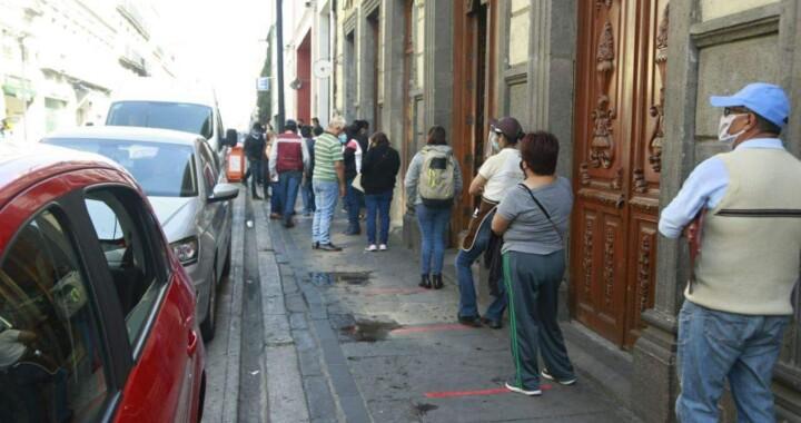 Continúa la promoción de sana distancia en Centro Histórico de Puebla