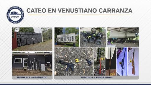 FGE aseguró armas y unidades durante cateo en Venustiano Carranza