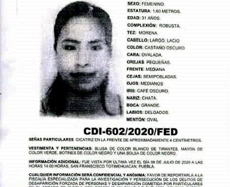 Feminicidio 67: Guillermina fue encontrada sin vida 9 días después de reportarse como desaparecida