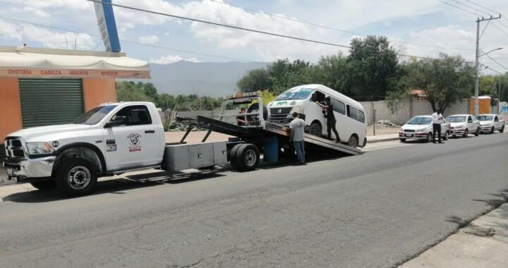 SMT: en tres días asegura 14 unidades de transporte irregular