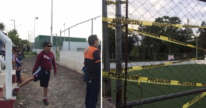 Suspenden partido de fútbol en la zona de la Margarita
