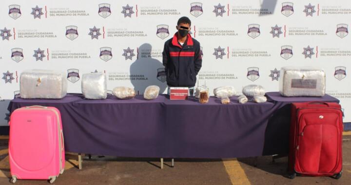 Detienen a un joven con 30 kilos de marihuana en la CAPU