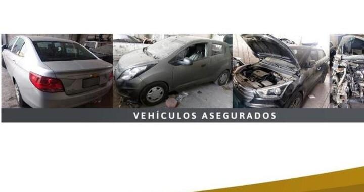 Asegura FGE inmueble donde desmantelaban vehículos robados