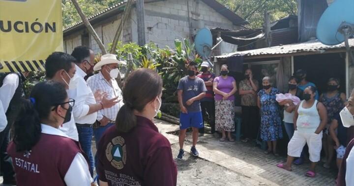 Continúa el apoyo a familias de la Sierra Norte afectadas por lluvias