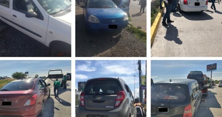 Movilidad y Transporte aseguran 11 taxis pirata tras operativo en Vía Atlixcáyotl