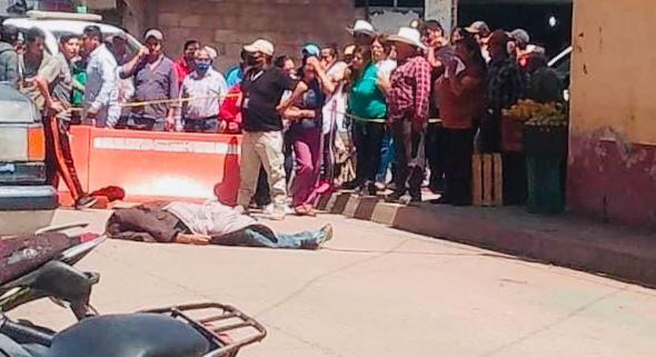 Ejecutan a hombre cerca del mercado municipal de Chignahuapan