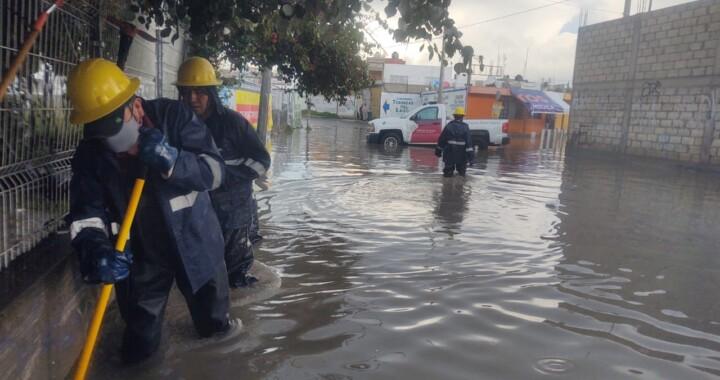 CEASPUE atiende puntos de inundación en zona metropolitana