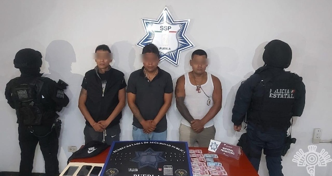 Capturan a tres presuntos narcomenudistas en la Unidad Habitacional San Ramón