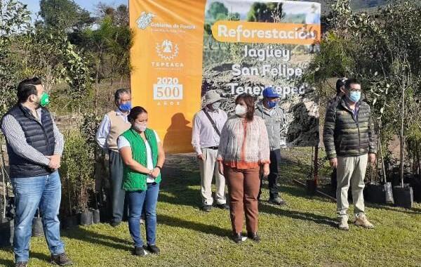 Secretaria de Medio Ambiente rehabilita seis jagüeyes en Tepeaca