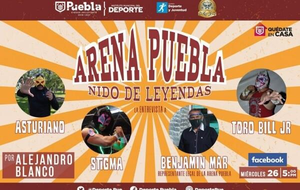 Deporte Municipal hará entrevistas a estrellas de lucha libre en la Arena Puebla