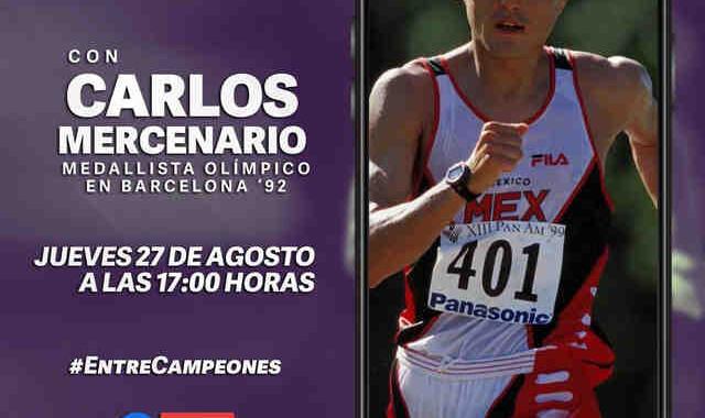 """Charla motivacional """"Entre Campeones"""" impartida por  Carlos Mercenario, leyenda de caminata nacional"""