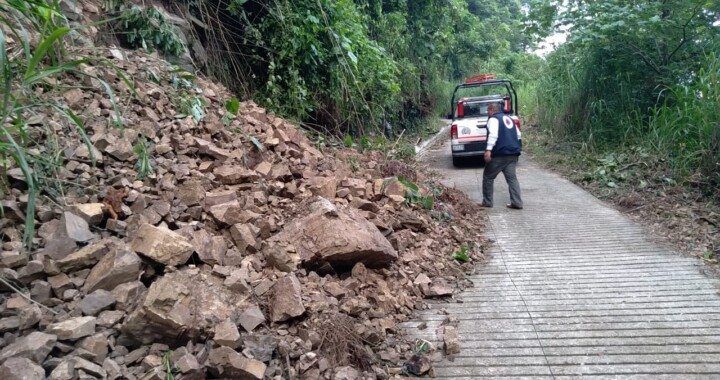 Ante lluvias Protección Civil Estatal actúa en ocho municipios
