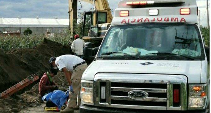 Fallece trabajador sepultado en obra de drenaje de Coronango